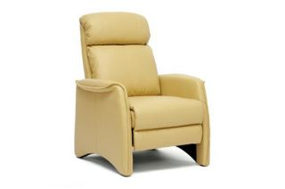 Tan Contemporary Faux Leather Recliner Home Theater Seating Seat Club Chair