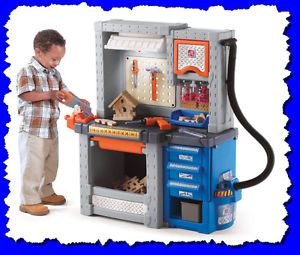 Kid Boy Children Pretend Play Toy Tool Stand Project Work Bench Shop Workstation