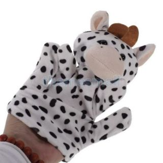 4X Milk Cow Hand Finger Puppet Preschool Kids Bed Stories Props Funny Play Toy