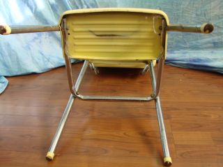 Vintage Yellow Cosco Stool Chair Kitchen Step Ladder Vinyl Aluminum Plastic