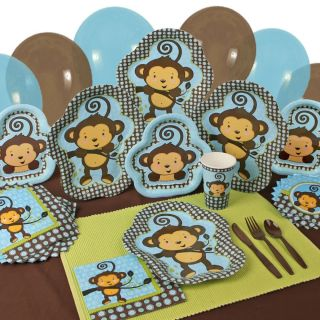 Party Supplies Monkey Boy Baby Shower or Birthday Party