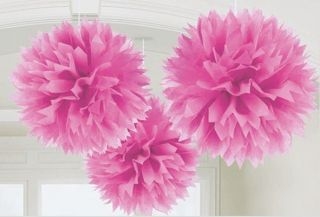 Large Fluffy Pink Pom Pom Decoration Bridal Baby Shower Birthday Party Lantern