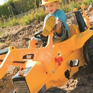 Caterpillar Toy Tractor Pedal Ride on Backhoe Frontend Loader Backhoe Kids
