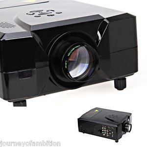 New 1080p 3D Movie DVD LCD Home Theater Projector with 2 HDMI 2 USB Input Black