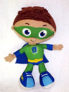 "Super Why Wyatt Talking 12"" Plush Doll PBS Kids Figure 7 Phrases Sings Song"