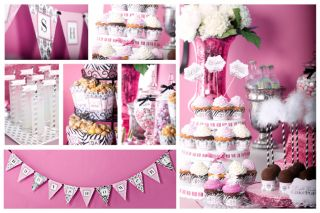 Zebra Baby Shower Treat Boxes Damask Baby Shower Treat Boxes Doc Milo Set 10