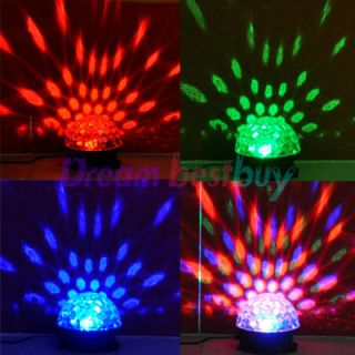 Disco DJ Stage Lighting LED RGB Crystal Magic Ball Effect Light
