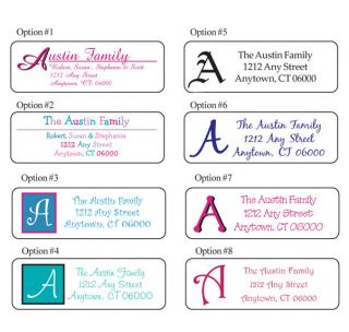 Personalized Family Monogram Address Labels 30 per Sheet Buy 5 Get 1 Free