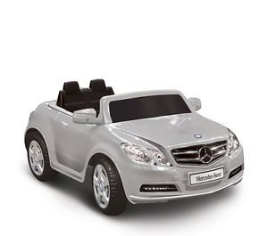 Kids Battery Powered Ride on Toy Silver Mercedes Benz Sports Car 6V
