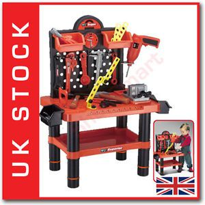 Childrens Kids 54 Piece PC Tool Tools Drill Play Toy Work Bench Fast Delivery