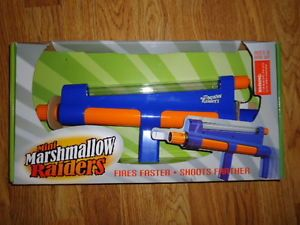 Mini Marshmallow Raiders Toy Gun Shooter New Fires Faster Shoots Farther