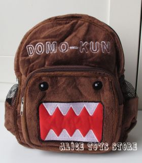 Domo Kun Brown Cute Plush Toy Children School Bag Backpack New A
