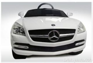 Mercedes Benz SLK 81200 Baby Kids Ride on Power Wheels Toy Car White