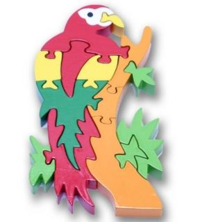 New Childrens Wooden Jigsaw Puzzle Parrot Shape Traditional Toy for Kid Kids
