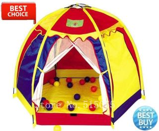 Large Six Sided Kids Pop Up Play House Tent Indoor Outdoor Garden Summer Toy