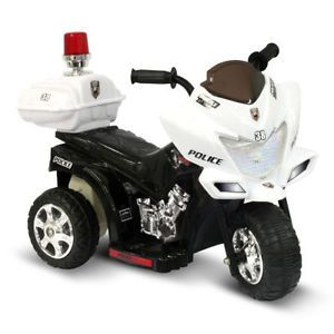 Kids Ride on Police Motorcycle Battery Power Toys Car Wheels Cop Powered Cars