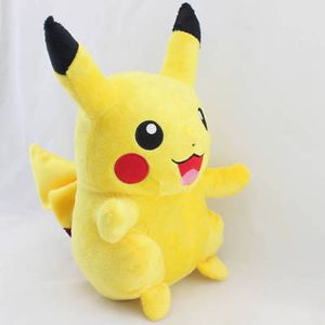"Pokemon 13"" Pikachu Figure Plush Toy Stuffed Animal Pichu Doll Kids Present"