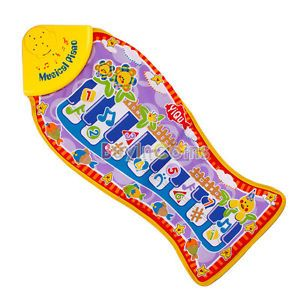 Baby Kid Child Piano Music Fish Animal Mat Touch Kick Play Fun Toy Gift New