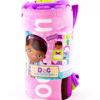 "Disney Doc McStuffins 46"" x 60"" Micro Fleece Plush Throw Blanket Girls Kids Bed"