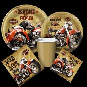 Harley Davidson Motorcycle Birthday Party Supplies Create Your Own Set U Pick