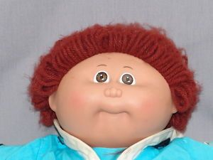 Vintage Cabbage Patch Kids Doll Baby Boy Red Brown Hair Sailor Outfit Plush Toy