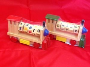Childrens Kids Traditional Wooden Letters Alphabet Numbers Toy Train Party Gift