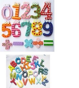 Kids Toys Educational Games Math Wood Magnetic Fridge Sticker Letter Number Toy