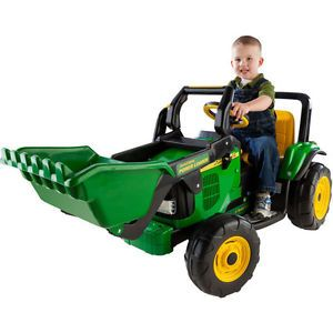 John Deere Tractor Loader Toy Perego Power Ride on Battery Operated Kids Boy