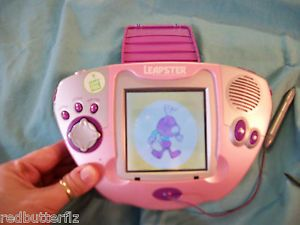 Leapster Leap Frog Multimedia Learning Game System Children Kids Pink Purple
