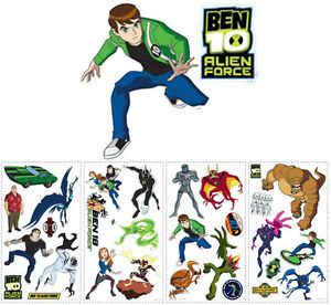 26 Ben 10 Alien Force Kids Boys Decorative Wall Decals Stickers Stick UPS New