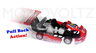 Turbo Go Kart Speed Racing Mini Cars Die Cast Pull Back Car Toy Kids Gift 4 Pack