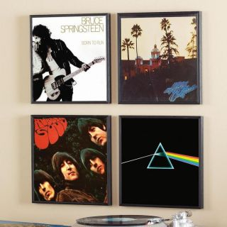 LP Album Cover Frames Set of 4 for Collectors