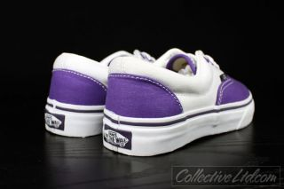 Vans Kid's Youth Era Canvas Purple White 13