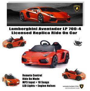 Orange Lamborghini Aventador LP 700 RC  Kids Ride on Car Battery Electric Toy