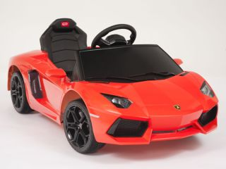 Lamborghini Orange Aventador LP700 4 Ride on Kids Battery Powered Wheels Car RC