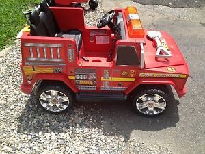 Kids Trac Fire Engine Truck 12 Volt Ride on Must See Ct