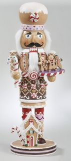 Kurt Adler Christmas Wooden Gingerbread Nutcracker