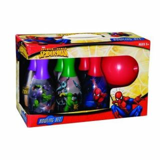 New Marvel Spider Man Bowling Set Toy Kids Children Play Game Comic Heroes Figur