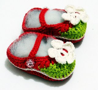 Lovely Baby Girls Mary Janes Shoes Crochet Cute Pre Walker Softsoles Newborn