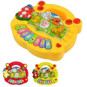 Kid Baby Intelligence Develop Toy Fair Sounding Music Baby Animal Farm Piano Q2