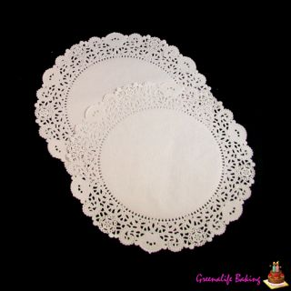 "50pcs 9 5"" Greaseproof Paper Craft Decor Paper Doilies Party Cake Dessert Muffin"