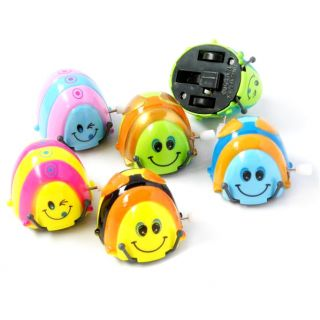 Funny Colorful Baby Kid Beetle Thumbing Somersault Running Clockwork Spring Toy