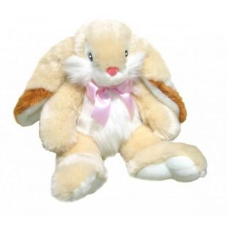 "Rabbit Bunny Cream Soft Plush Toy Stuffed Animal Easter Gift Peaches 17"" 43cm"