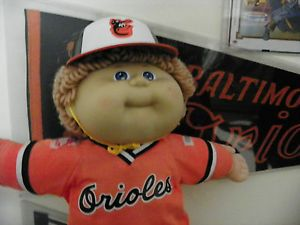 Vintage 1986 Baltimore Orioles Cabbage Patch Kid Doll MLB Baseball Figure Toy