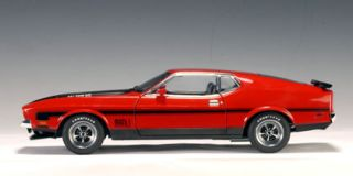 1971 Ford Mustang Mach 1 Fastback Red 1 18 Autoart