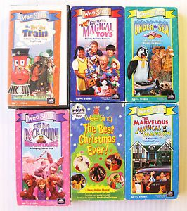 Wee Sing VHS Movie Lot Music Toy Mansion Train Sea Rock Christmas Kids Along