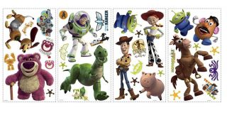 34 Disney Toy Story 3 Buzz Woody Jessie Decor Wall Decals Stickers Stick UPS NIP