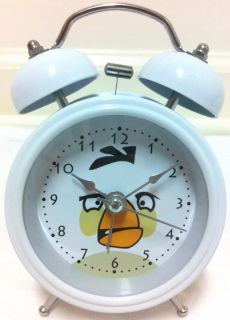 "New 4"" Angry Birds Mini Twin Bell Alarm Clock High Quality  from US"