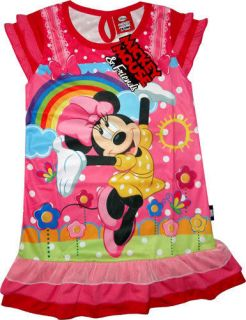 Disney Minnie Mouse Girls Dress Childrens Kids Clothes Pink Dresses Toy Toys