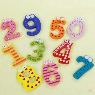 5X A Z 26 Letters Alphabet Wooden Fridge Magnet Carton Education Toy Memo Pin